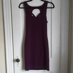Free People Purple Crisscross Back Dress